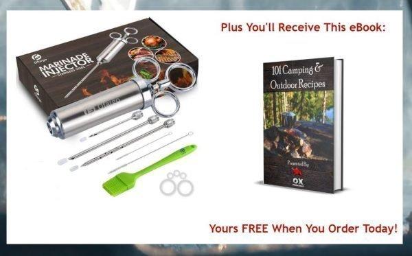 marinade injector & 101 camping & grilling recipes